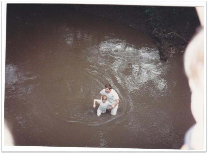 Baptism at Mt. Pisgah May 1992