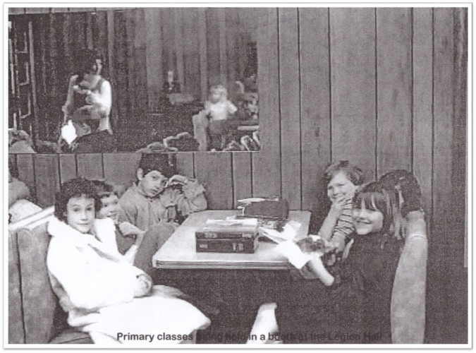Legion Hall-Primary class in booth